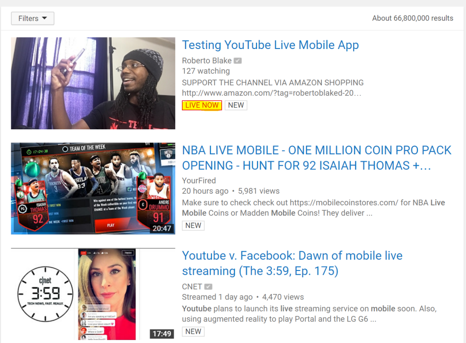 youtube-live-mobile